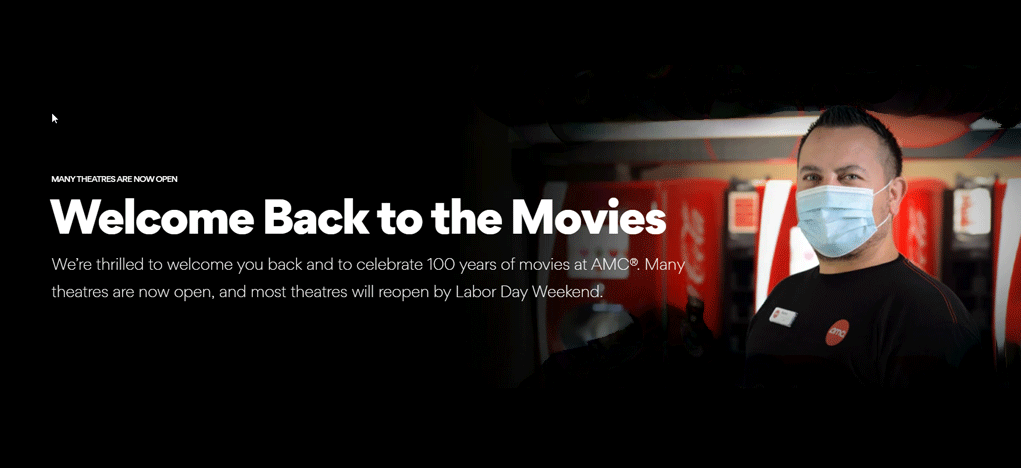 AMCTheatres reopening Welcome Back to the Movies AMCTHEATRE- mortaltech
