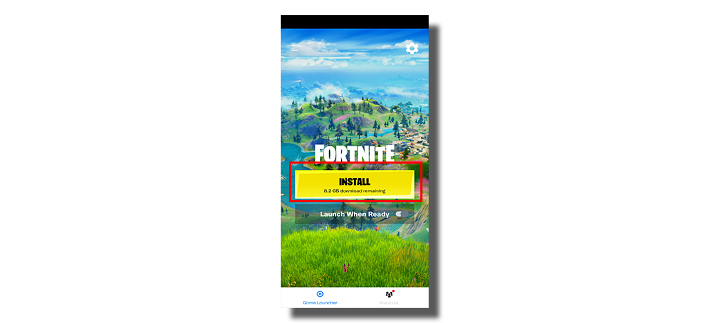 click on Button to install Fortnite on android -MortalTech
