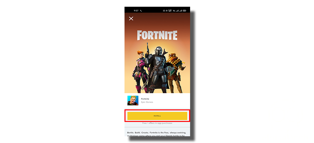 click on install to download fortnite - MortalTech