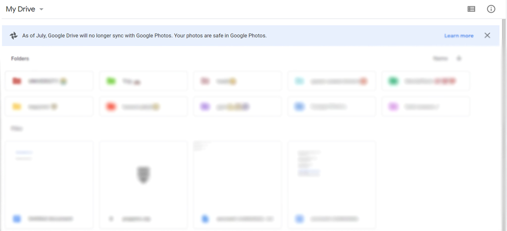 Google drive no longer sync with google photos