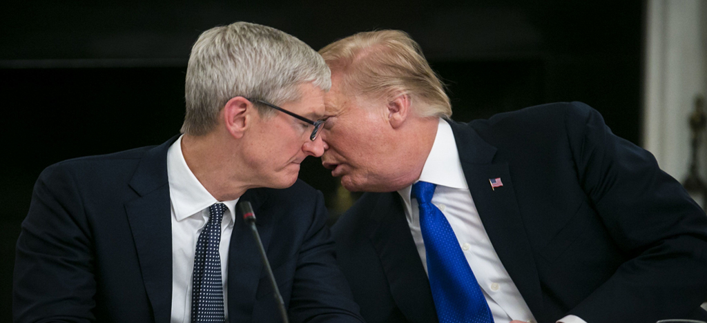 Apple CEO Advised Trump His tariffs Policy hurting Apple