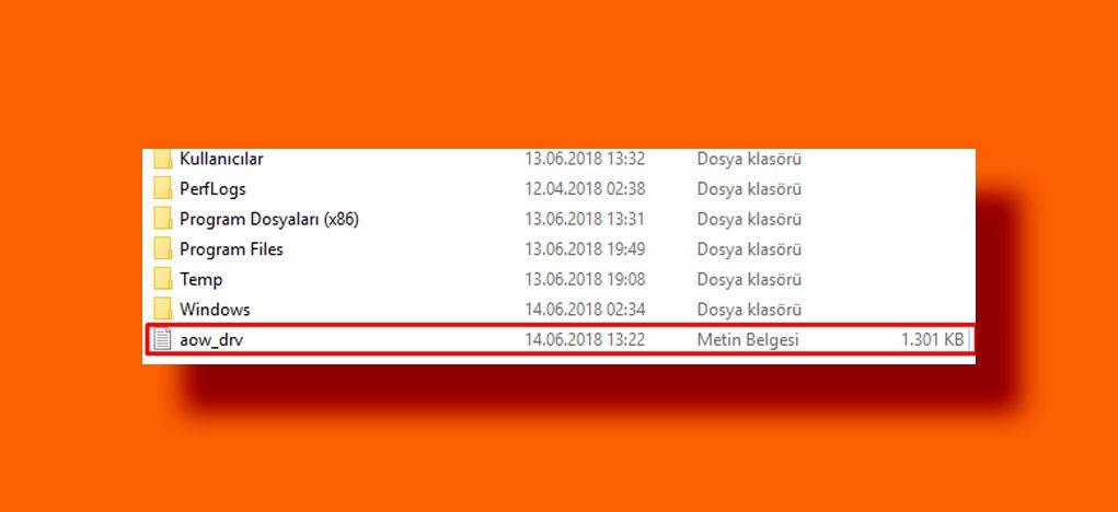 Remove aow_drv.log file - Mortal tech