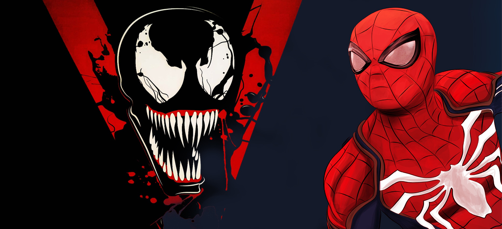 venom and spider man crossover -Mortal Tech