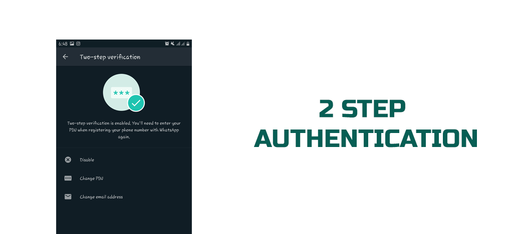 WHATSAPP 2 STEP AUTHENTICATION WhatsApp 4 Hidden Features you do not know- MORTALTECH