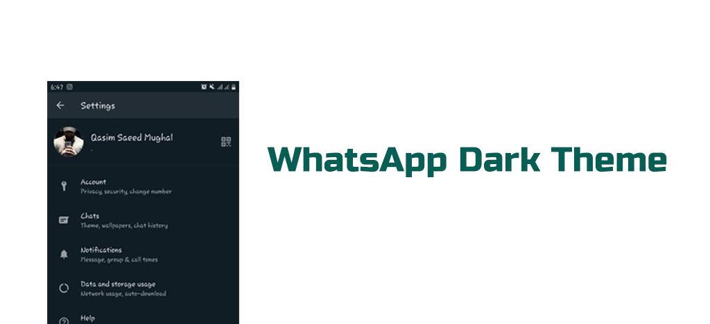 WHATSAPP DARK THEME WhatsApp 4 Hidden Features you do not know- MORTALTECH